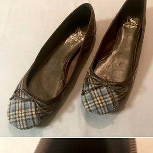 Saks 5th Ave 10022 Shoes Plaid Ballet Flats